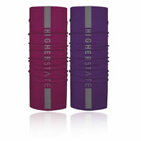 Higher State Unisex Reflective Neck Gaiter 2 Pack Pink Purple Sports Running