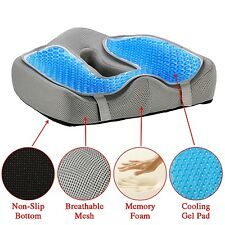 Ziraki Memory Foam Seat/Chair Cushion Orthopedic Coccyx Support Pillow 4 in 1...