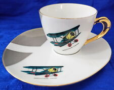🌟 SOPWITH CAMEL FIGHTER TENNIS SET CUP & SAUCER WESTMINSTER