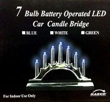 New Christmas 7 Bulb Battery Operated LED Car Candle Bridge Xmas Decoration