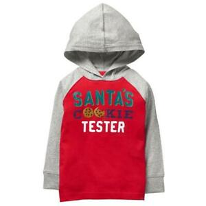 NWT Gymboree North Pole Party Santas Cookie Tester Boys Red Hoodie Shirt