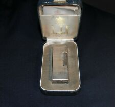 Dunhill Cigarette Lighter Silver Plated in Original Box w. Paper work