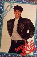 "VINTAGE SEALED ORIGINAL NEW KIDS ON THE BLOCK NKOTB JORDAN 1989 Poster 34X22"""