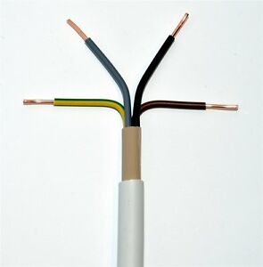 NYM-J 4x1,5mm² Meterware Mantelleitung grau Installationsleitung Feuchtraumkabel