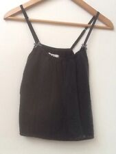 Abercrombie & Fitch Tank Top Cami sz XS Lace Front Navy Blue