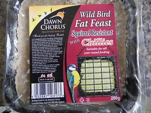 Wild Bird Suet fat blocks by Dawn Chorus for all year round feeding.