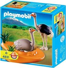 Playmobil Zoo African Wildlife Ostrich Family with Nest Set #4831