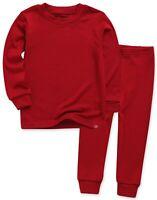"""Vaenait Baby Toddler Kids Clothes Long  Pajama Set """"Modal Darkred"""" 18M-12Y"""