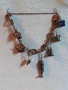 Cloisonne  Vintage Export Charm Bracelet