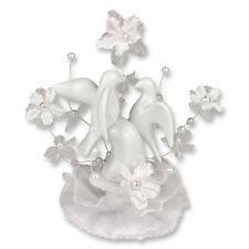 ++ Günthart Porzellan Aufsatz mit Hochzeits-Tauben und Blumendekoration, verpack