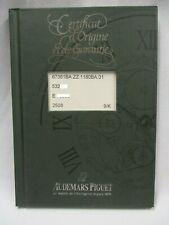 Rare! AUDEMARS PIGUET Certificate of Origin & Warranty Book Calibre Caliber 2508