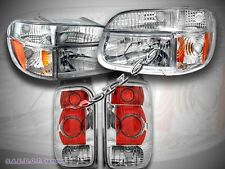98-01 FORD EXPLORER HEADLIGHTS CHROME + CORNER LIGHTS + TAIL LIGHTS CLEAR