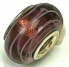 Chamilia Ink Swirl Purple Bead  Charm Sterling Silver Retired