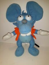 """New listing The Simpsons 11"""" Plush Itchy Mouse Blue Stuffed Rat Animal Toy Doll"""