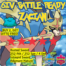 Zacian 6IV Pokemon Sword and Shield BATTLE READY +  Japanese Ditto offer