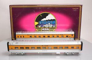 MTH 20-6699 O DRG 70' Streamlined Sleeper/Diner Passenger Car Set (Set of 2) EX