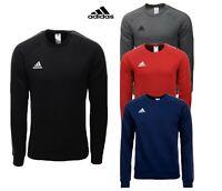 Adidas Mens Core 18 Sweatshirt Fleece Shirt Sports Training Cotton Tops Size
