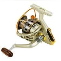 YUMOSHI Spinning Fishing Reel 12Ball Bearing Fishing Reels Windlass Molinet V8Y2