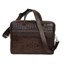 Genuine Hornback Crocodile,Aligator Leather Laptop bag,Messenger bags, Men s bag