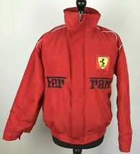 Ferrari Michael Schumacher Jacket Men's Size S Red Lined Embroidered Racing Top
