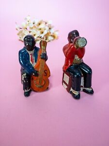 Lot of 2 - Vintage Ceramic Jazz Musicians