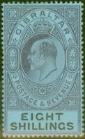 Gibraltar 1903 8s Dull Purple & Black-Blue SG54 Fine & Fresh Lightly Mtd Mint...