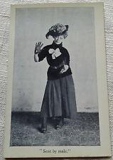 RPPC Real Photo Postcard Sent by male. 1907 Odd Risque Humor Eckstone VTG
