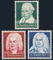 DR 1935, MiNr. 573-575, 573-75, tadellos postfrisch, Mi. 35,-