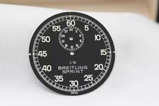 Genuine Breitling Sprint Stopwatch Dial Black 1/5th  44.8mm- New Old Stock