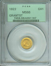 New listing 1922 G$1 Grant Star * Commemorative Gold Dollar Pcgs Ms66 Ogh Old Green Holder
