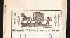 C Smiley Reciept Hard Soft Coal Wood Granular Fuel Horse Coal Wagon Logo 1868 Z7