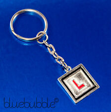 FUNKY LEARNER DRIVER KEY RING CHAIN DRIVING INSTRUCTOR CAR L PLATES FUN NOVELTY