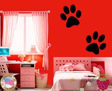 Wall Stickers Vinyl Decal Cartoon Dog Paw Prints Kids Room Nursery EM355