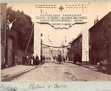 B005 Provenance Album photo Paul Gers albumen Chalons sur Marne Blessé Militaire