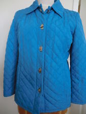 JONES NEW YORK LADIES SMALL WEIGHT QUILTED BLUE JACKET - USED - EXCELLENT SHAPE