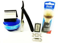 WILKINSON SWORD 5 PIECE CUT THROAT SHAVETTE  RAZOR SHAVING SET.....