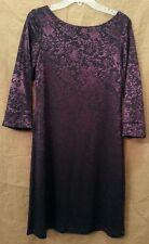 ABS Allen Schwartz Boat Neck Lace Dress Black/Amethyst NWT size 12 $253.00