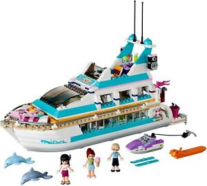LEGO Friends 41015 Dolphin Cruiser 100% Complete w/ Manual & Minifigures