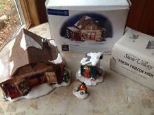 Dept 56 Snow Village Timberlake Outfitters & Fresh Frozen Fish Lot Of 2
