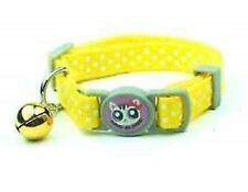 New Cat Collar With Quick Release Fastening In Assorted Colours With Bell