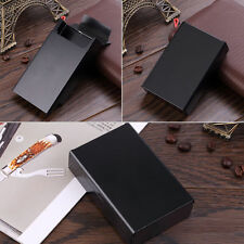 Push Open Aluminum Cigar Cigarette Tobacco Holder Pocket Storage Box Case B