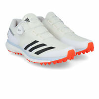 adidas Mens 22YDS Boost Cricket Shoes - White Sports Breathable Lightweight