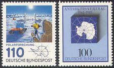 Germania 1981 ANTARTICO/polari/mappa/Treaty/Trattore/Base/scienziato 2 x 1 V (n20370)