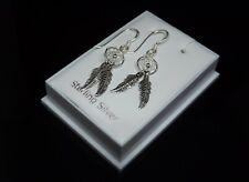 Sterling Silver 925 Dreamcatcher Drop Dangle Earrings Gift Boxed Jewellery UK