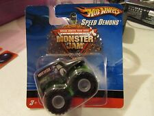 "Hot Wheels Monster Jam Grave Digger Speed Demons Short Card (about 2"" lg)"