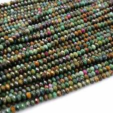 """Natural Ruby Fuchsite Faceted 5mm 6mm Rondelle Beads 16"""" Strand"""