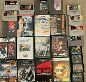 Job Lot Nintendo NES SNES N64 Game Cube Sega Mega Drive Master System Xbox Games
