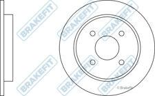 FORD FOCUS Mk1 2.0 2x Brake Discs (Pair) Solid Rear 98 to 04 252mm Set Brakefit