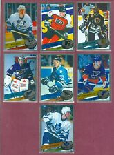 1995-96 PANINI STICKERS & FOIL NHL HOCKEY CARD 155 TO 306 SEE LIST