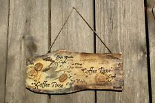 Coffee Wood signs Country decor Rustic Home Decor Handmade Coffee time Bar sign